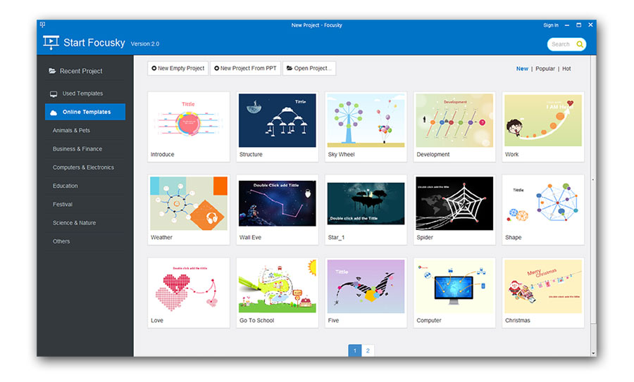 Focusky presentation maker desktop version features and for Powerdirector slideshow templates download